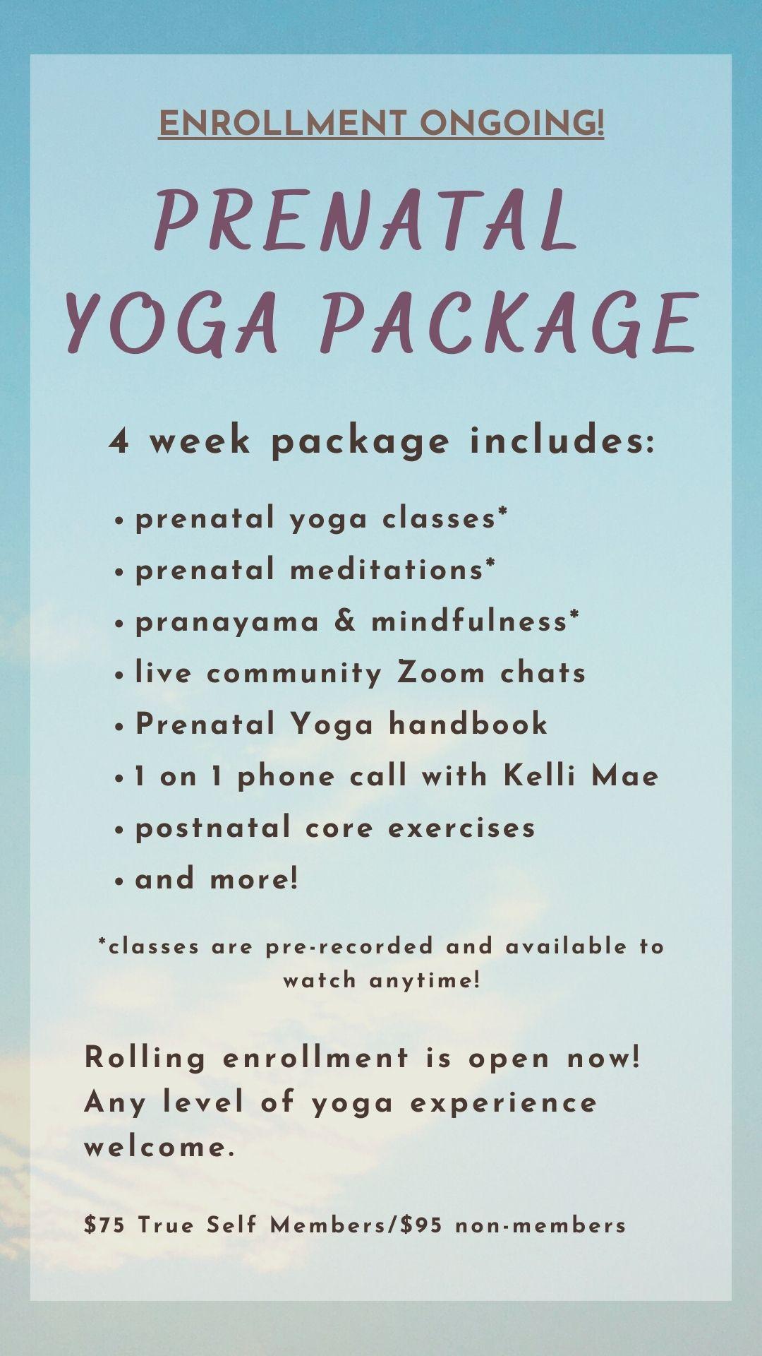 Prenatal Yoga Package