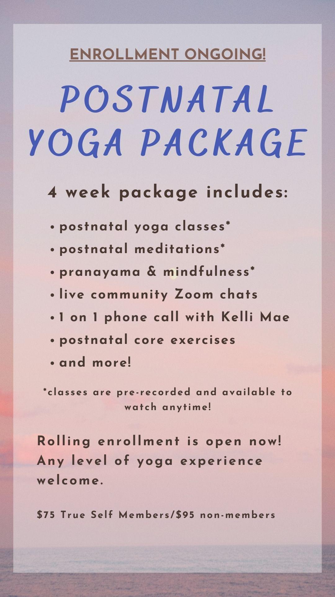 Postnatal Yoga Package